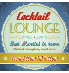 Vintage sign - Cocktail Lounge vector