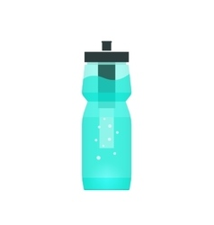 Water filtration bottle for sport and vector image
