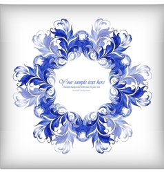 Watercolor blue background Gzhel details vector image