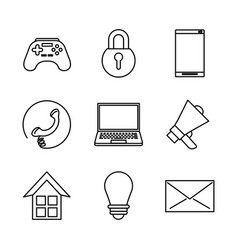 white background with monochrome icons of social vector image