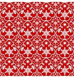 White snowflakes pattern vector