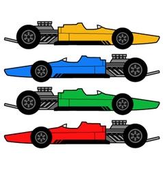 1960 racing car vector image