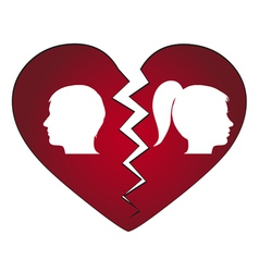 couple getting divorced vector image