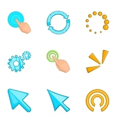 Cursor icons set cartoon style vector image vector image