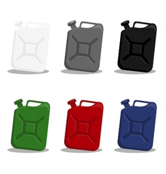 jerry can of gasoline vector image vector image