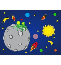 Planet in Space vector image vector image