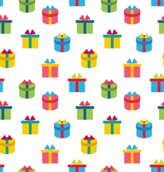 Seamless Texture of Colorful Present Boxes vector image