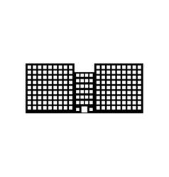 silhouette city school building line sticker vector image