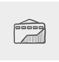 Envelope with handle sketch icon vector image