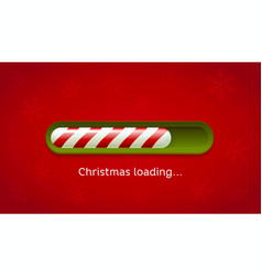 loading christmas red and green web bar on dark vector image vector image
