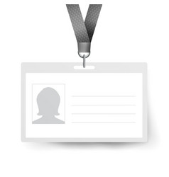 realistic identification card template vector image