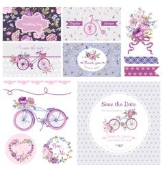 scrapbook design elements - wedding party vector image vector image