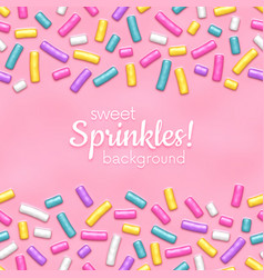 seamless background with many decorative sprinkles vector image vector image