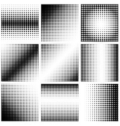set of abstract dotted background halftone effect vector image vector image