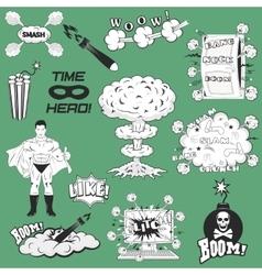 Set of Retro Comic Book Design elements vector image vector image