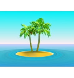 two palm trees vector image