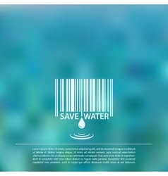 blurred sea background with save water vector image vector image