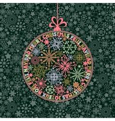 christmas ball vector image vector image