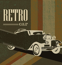 vintage car on the poster vector image