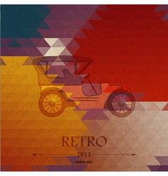 Abstract background with retro automobile vector image