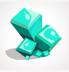 cartoon crystal gemstone vector image