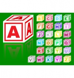cubes alphabet vector image vector image