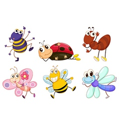 Different bugs and insects vector image vector image