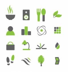 every day icons vector image vector image