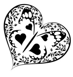 heart with buterfly vector image vector image