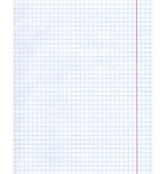 The page sheet in a cage vector image
