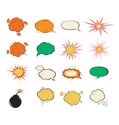 vintage comic speech bubbles design vector image vector image