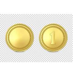 3d realistic blank golden and silver metal vector