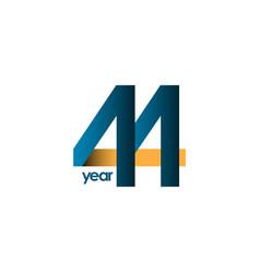 44 year anniversary template design vector