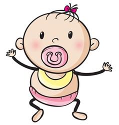 a baby vector image