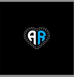 A r letter logo design on black color background vector