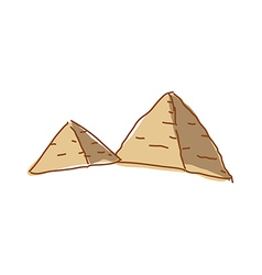 A view of pyramids vector