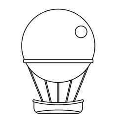 air balloon journey icon outline style vector image