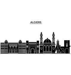 Algiers architecture city skyline travel vector