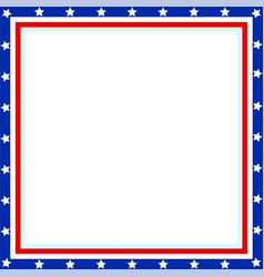 American flag patriotic border vector