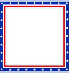 american flag patriotic border vector image