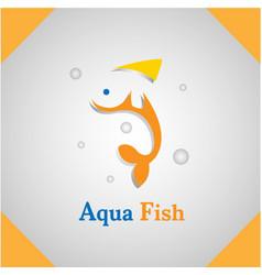 aqua fish logo vector image