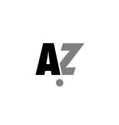 Az a z black white grey alphabet letter logo icon vector