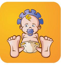 Baby boy cartoon character vector