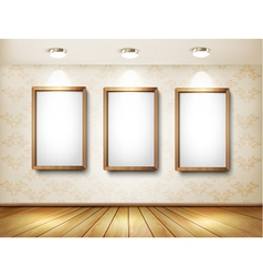 Background with frames and spotlights vector image