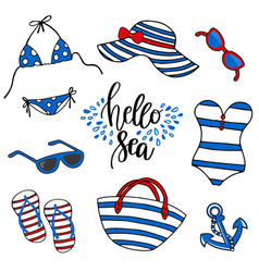Beach time swimsuit vector