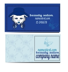 beauty salon banners visit cards with abstract vector image