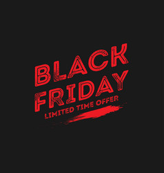 black friday sale design template friday vector image