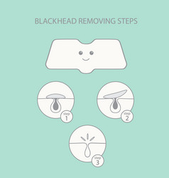 blackhead removing steps vector image