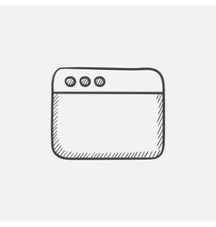 Blank window of internet browser sketch icon vector image