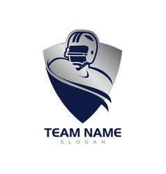 blue shield american football vector image